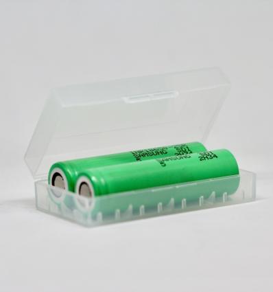 Pack 2 Accus 18650 SAMSUNG 25R + boîte